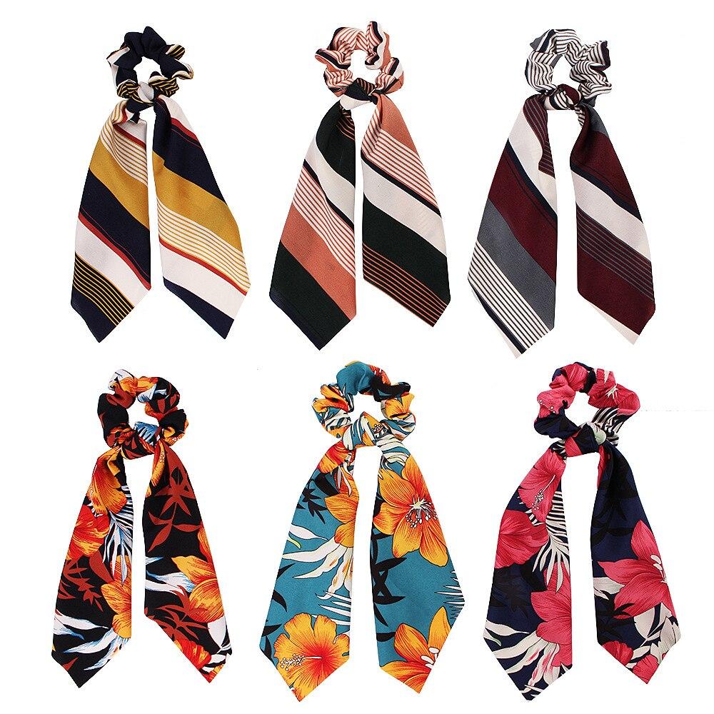 Diademas Vintage de moda para mujer, turbinas con lazo para el cabello, cintas para el pelo, lazos con cola de caballo, accesorios para el cabello