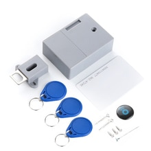 No hole Hidden RFID smart sensor lock/Invisible cabinet lock/Invisible lock/125KHz EM RFID ID card lock/Drawer lock/Swipe lock