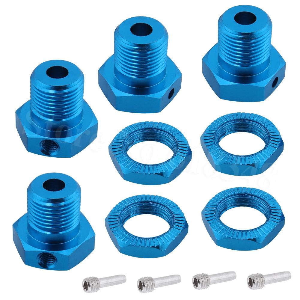 Alum. hubs da roda, 17mm fechadura hexagonal nozes substituição 5353x para rc traxxas 1/10 e-revo e-maxx revo 3.3 slayer pro cimeira 4x4 XO-1