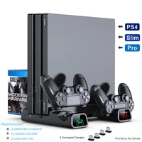 ps4 ps4 pro ps4 slim console vertical cooling stand controller charging base 2 cooler 10 games storage for sony playstation 4