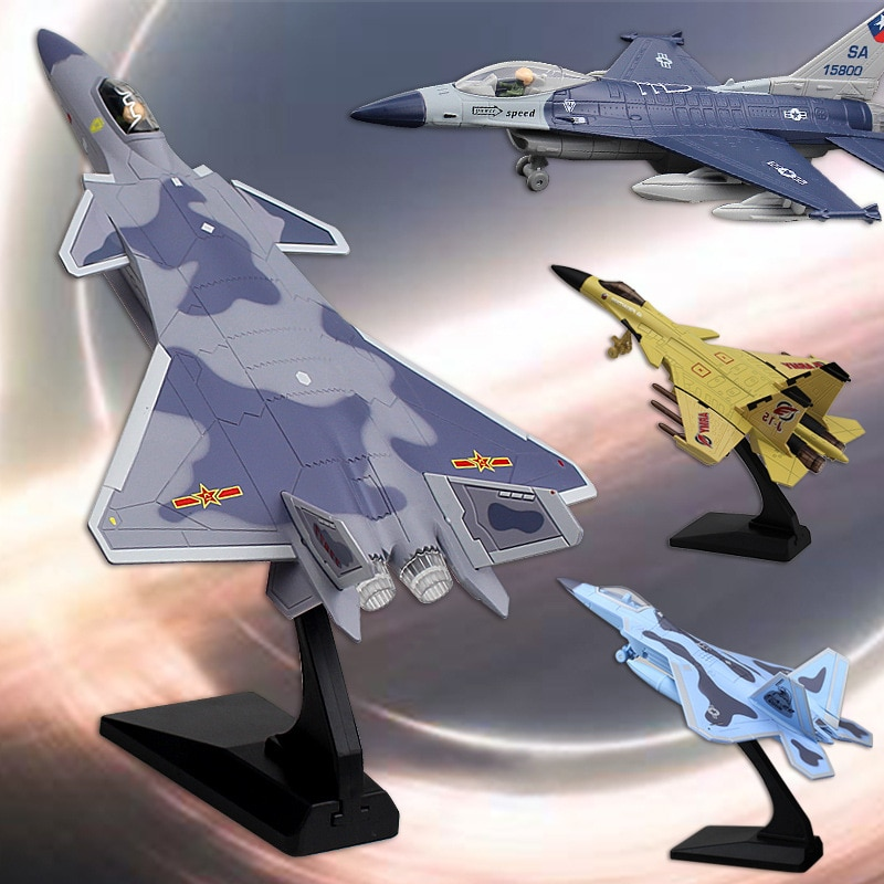 Aviation Airplane Model Simulation Alloy Fighter Sound And Light Pull Back Military Metal Model Hand-made Toys