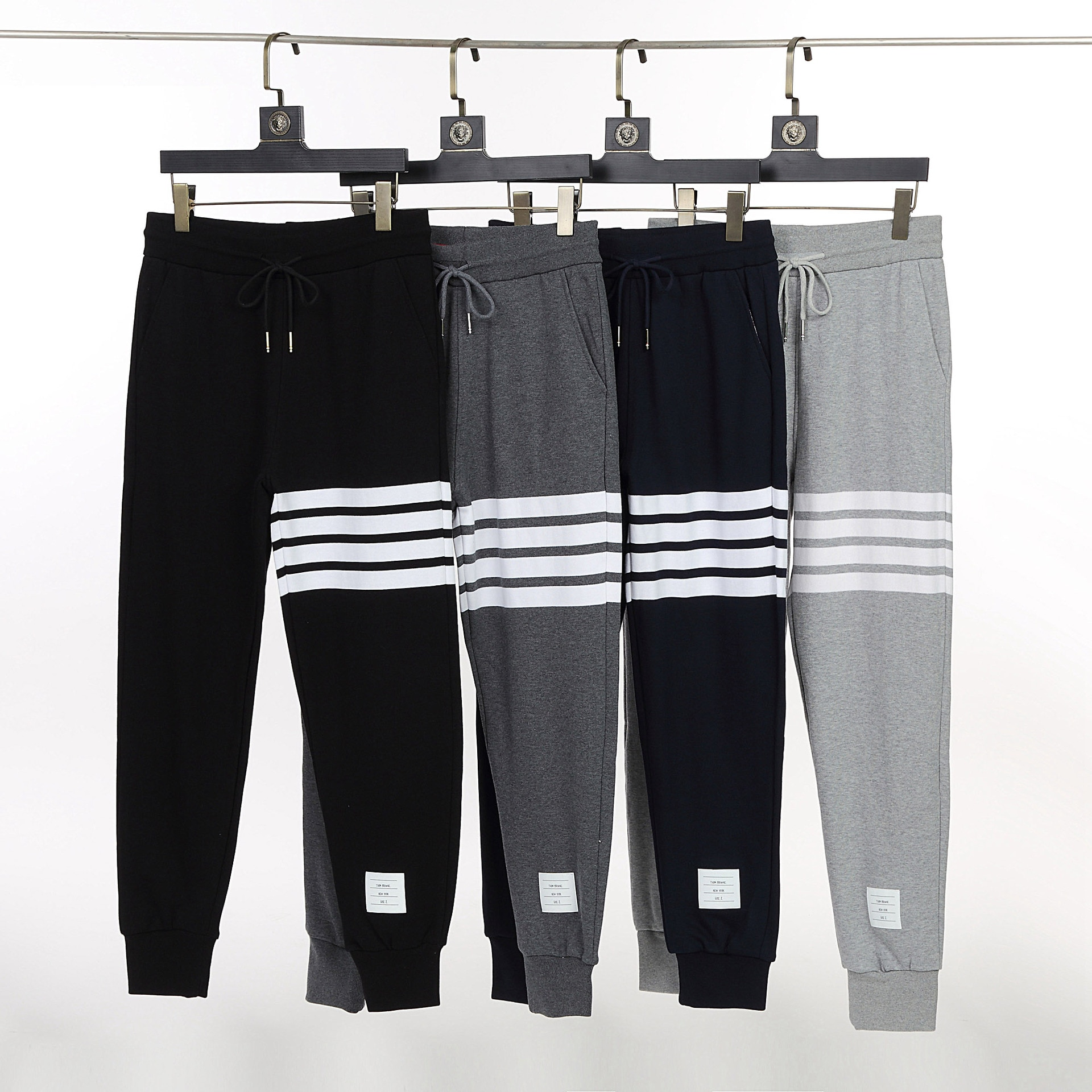 Tide brand TB Waffle spring and autumn trousers, men and women with yarn-dyed casual trousers