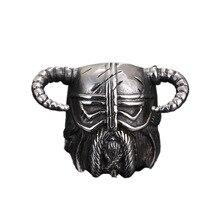 Anillos de vikingos 316L de acero inoxidable para hombre, anillo gótico para motorista, casco Punk Vintage, máscara espartana, joyería nórdica pagana, regalos para hombres