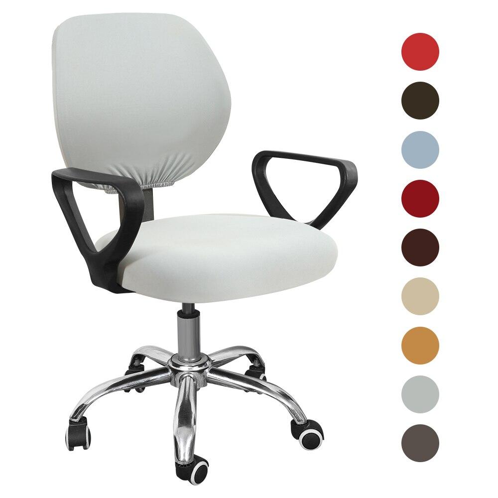 Универсальные поворотные Чехлы для офисных чехол на компьютерное кресло, чехол для спинки сиденья, эластичный универсальный чехол на стул
