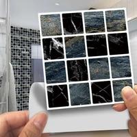 30pcsset diy 3d wall stickers waterproof mosaic tile decal thickening pvc floor bathroom door kitchen home decoer wallpaper