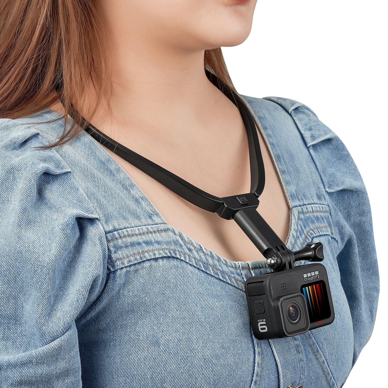 Neck Hold Mount Lanyard Strap For GoPro hero 10 9 8 7 6 5 4 3+ sports camera accessories neck phone camera mount video bracket