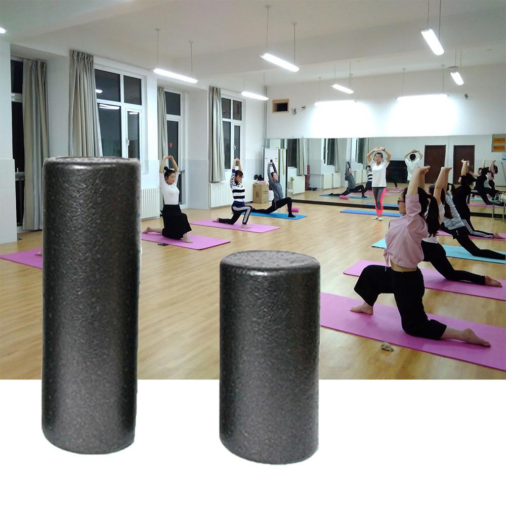 Barra de rodillo equilibrio eje de masaje rodillo de Fitness negro bloques de Yoga gimnasio rodillo de espuma columna de Yoga equipos musculares