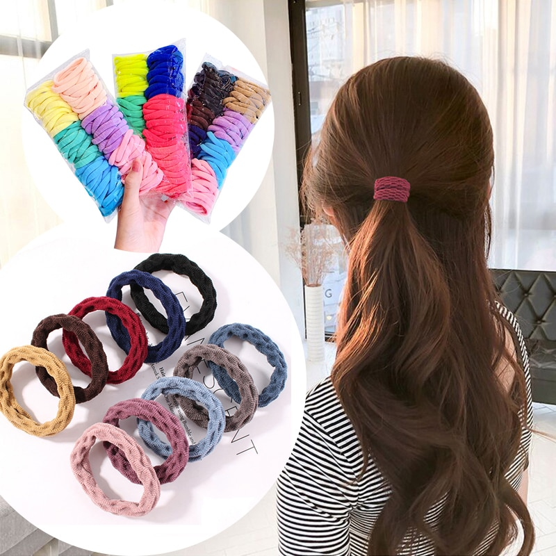 1pc colorful little girl hair rope ribbon bows elastic hair rubber bands kids ponytail holder children hair accessories ties gum Colorful Elastic Hair Band for Women Girl Rubber Bands Rope Ties Ring Gum Ponytail Holder Scrunchie Hairbands Hair Accessories