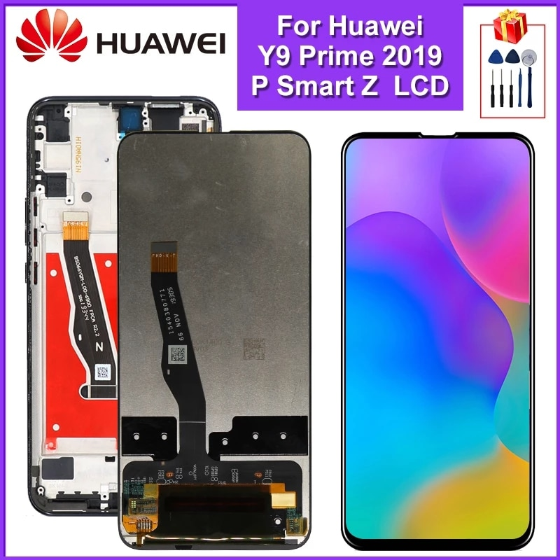"""6.59"""" For Huawei P Smart Z LCD Display Touch Screen Digitizer Assembly For Huawei Y9 Prime 2019 LCD Replacement Parts"""