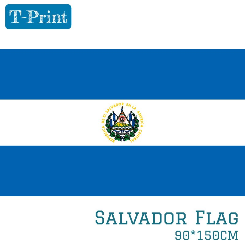 15 pçs bandeira nacional el salvador 90x150cm 60x90cm 40x60cm poliéster 3x5ft bandeira de salvador