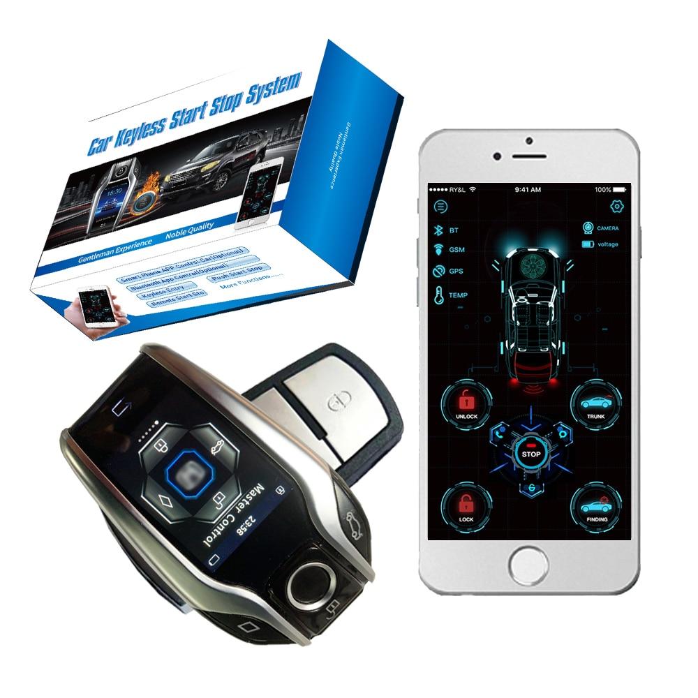 Cardot Long-distance SOS Liquid Crystal Remote Control Start Stop Engine Unlock Lock Smart Ignition System Car Alarm