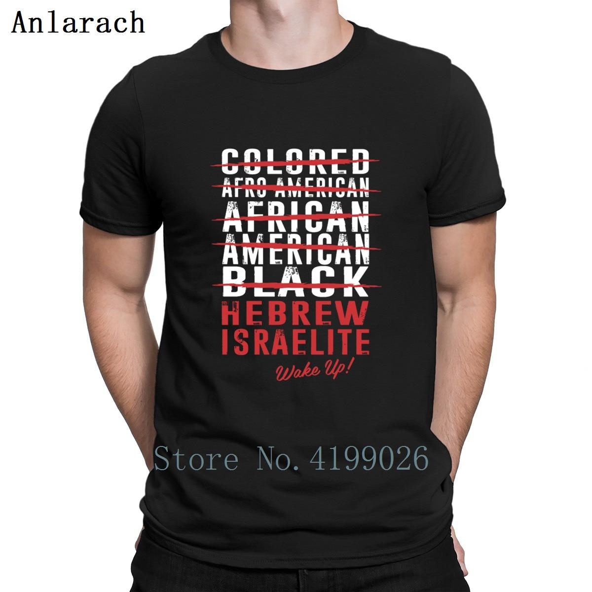 Hebreo ishaelite despertar camiseta personalizada Euro tamaño S-3xl luz del sol ropa camiseta para hombres Funky Hiphop superior Humor Formal