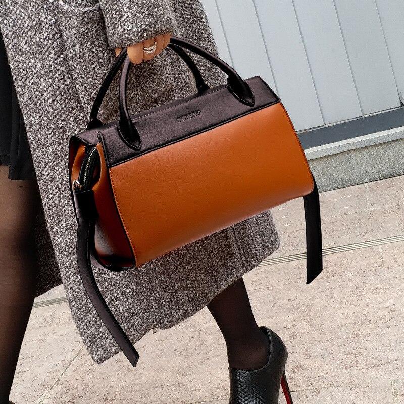 100% Genuine Leather Handbags 2021 New Fashion Hit Color Messenger Single-shoulder Atmosphere Simple and Versatile Bag Purse Gg