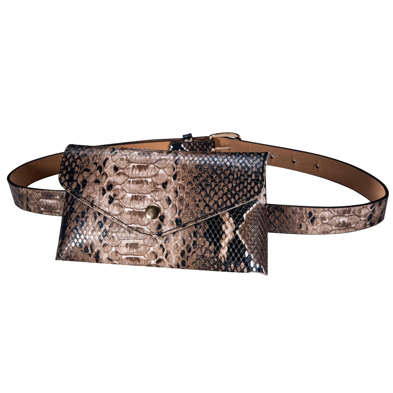 2021 Fashion Women Waist Pack Crocodile Snake Pattern Bag Belt for Ladies Female Phone Pocket Luxury Vintage Girls