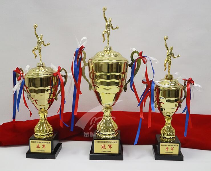 Trofeo de Metal personalizado copa de metal trofeo de fútbol para estudiantes trofeo de baloncesto campus pesca bádminton tenis de mesa