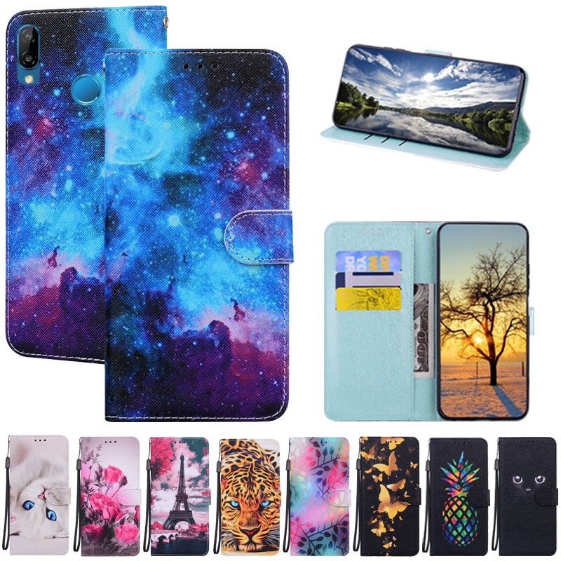 Case for Huawei P20 Lite Case Leather Wallet Flip Phone Case For Huawei P20lite P 20 Lite Cover Huaw