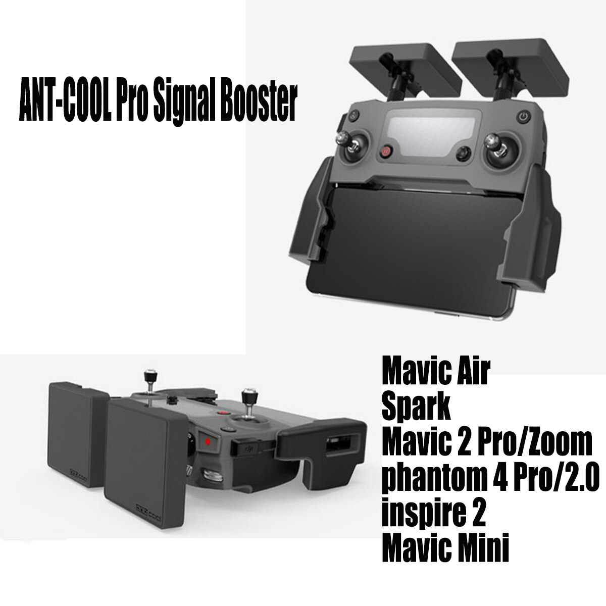 DJI Mavic 2 تمديد المدى هوائي ل Mavic Mini/AIR/Spark/إلهام 2/فانتوم 4 مكافحة التدخل 5.8G تحكم إشارة الداعم