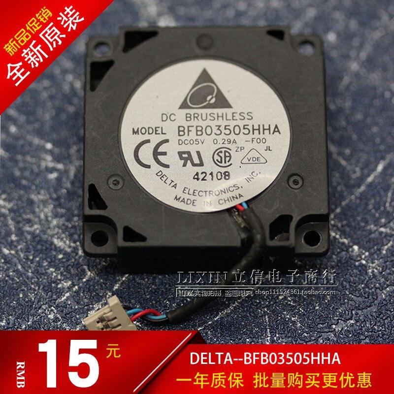 Producto original Delta BFB03505HHA 3510 5V 0.29A 3,5 cm tambor máquina de viento ventilador de turbina centrífuga ventilador refrigerador 35x35x10mm