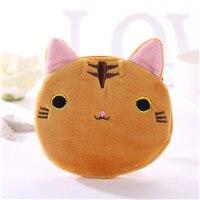 1 PCS Cartoon plush animal coin purse cute cat terry coin purse girl clutch bag key earphone storage