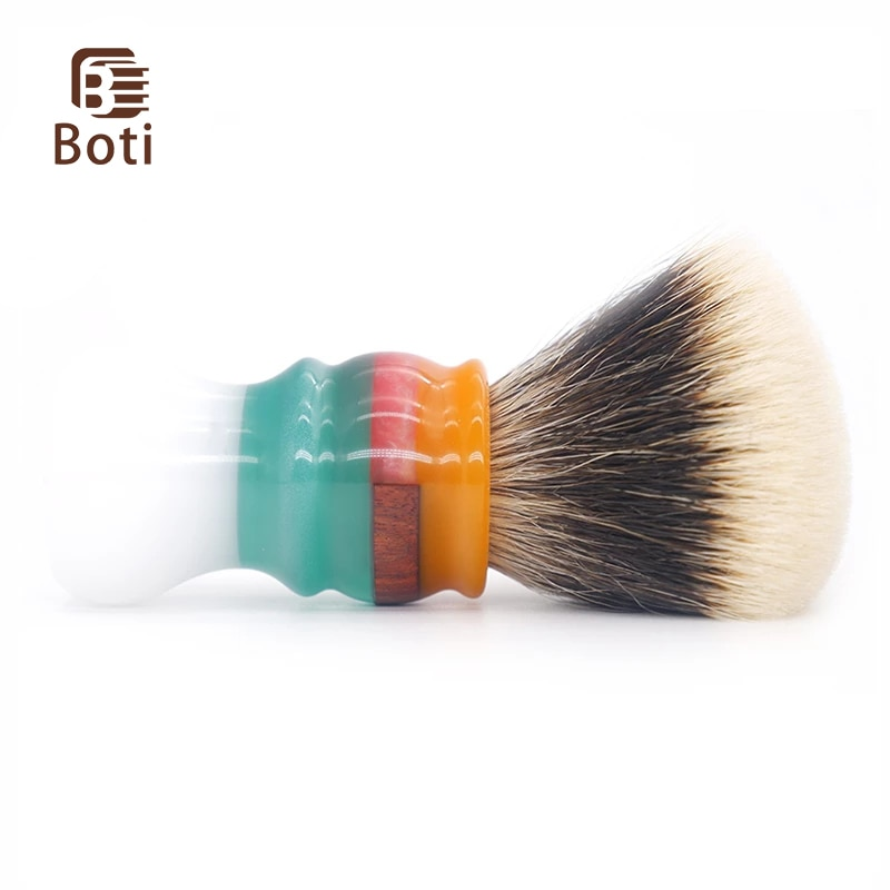 Boti Brush-Whole Beard Brush Jam White Clouds Handle With NC Chubby Badger Hair Knot Fan Shape Daily Essential Shaving Tools