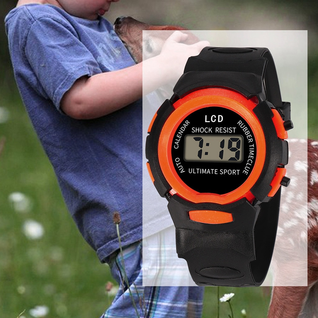 2020 children girls kid watches analog digital sport led electronic waterproof wrist watch boy child new	horloge relojes niños Digital Sports Watch For Children Girls Analog LED Electronic Waterproof Wrist Watch New Reloj Hombre Relogio часы женские