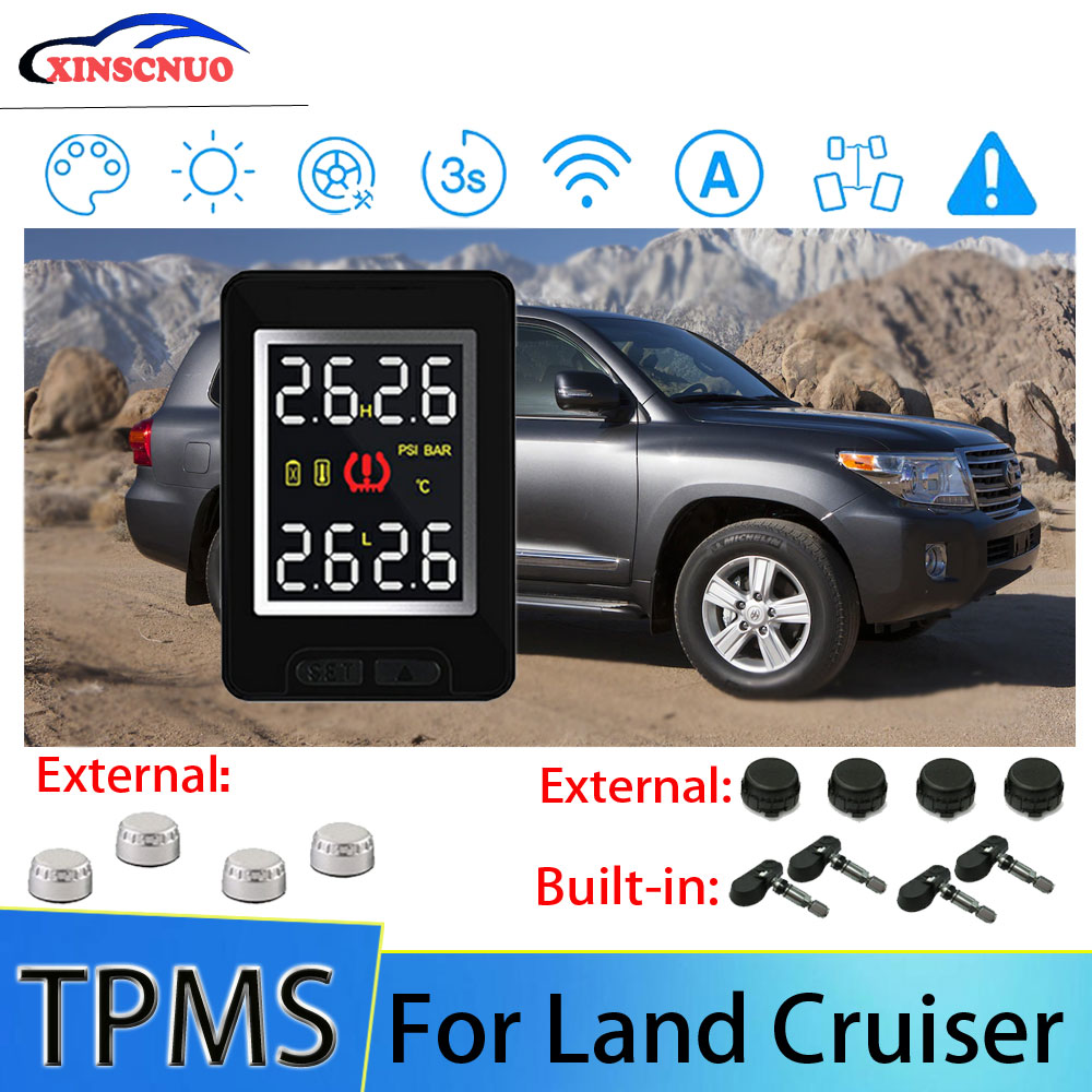 XINSCNUO Car Electronics Wireless For Toyota Land Cruiser TPMS Tire Pressure Monitoring System Senso