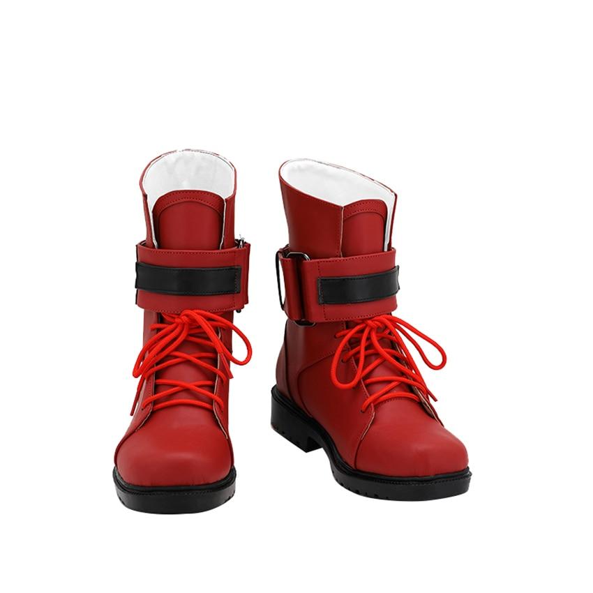 حار لعبة خيال نهائي السابع تأثيري أحذية تيفا Lockhart كوس كعب منخفض التمهيد الأوسط الدانتيل يصل دور كوس أحذية نسائية