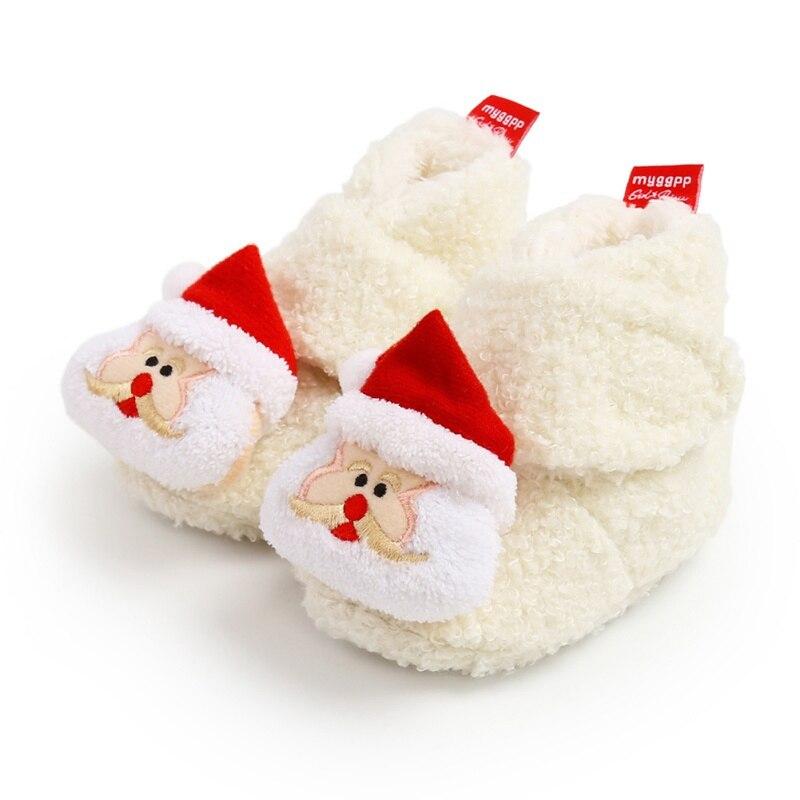 Фото - Рождественская обувь для новорожденных, мягкая нескользящая обувь для мальчиков и девочек, обувь для новорожденных, обувь для первых шагов chicco обувь для новорожденных