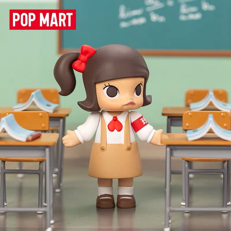 Blind Box POPMART Bubble Matt Molly Campus Series Cute Doll Hand-made Decoration Genuine