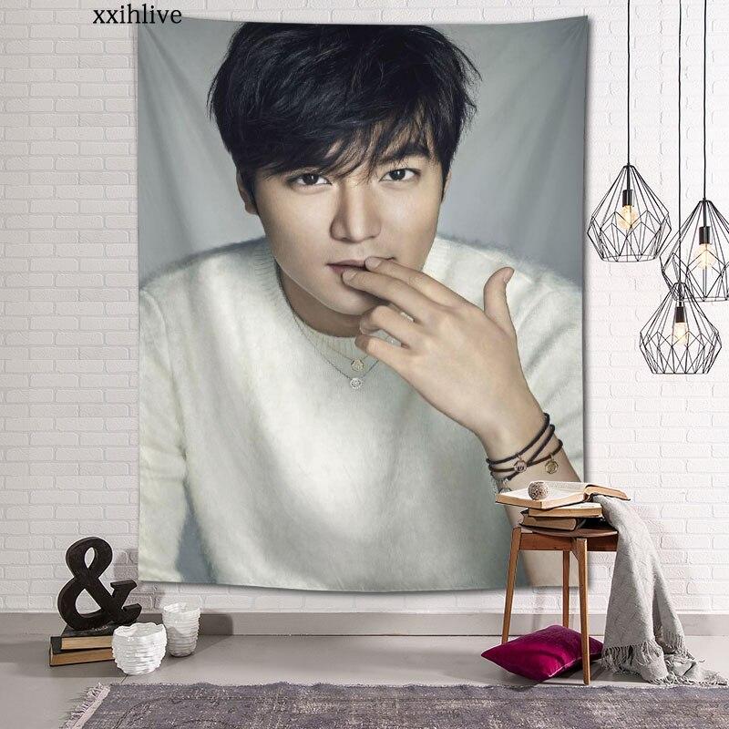 Изготовленный на заказ хо Lee MinHo на стене дома вечерние украшения гобелены фон для фотосъемки с изображением Скатерти настенный гобелен 100x150...