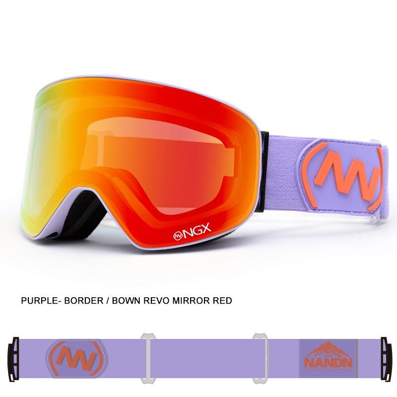 Adult Men Women Ski Goggles Double-Layer Anti-Fog Skiing Eyewear UV400 Outdoor Safety Snowboard Goggles Luxury Sports Glasses