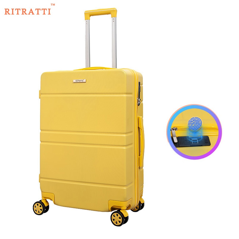 RITRATTI  Fingerprint  Suitcase 2021 New  High Quality 20 Inch Fingerprint  Lock Luggage With Wheels Travel Luggage