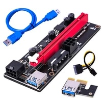 pci e riser card express 1x to 16x extender pci e usb 3 0 riser 009s gpu dual 6pin adapter card sata 15pin for gpu miner mining