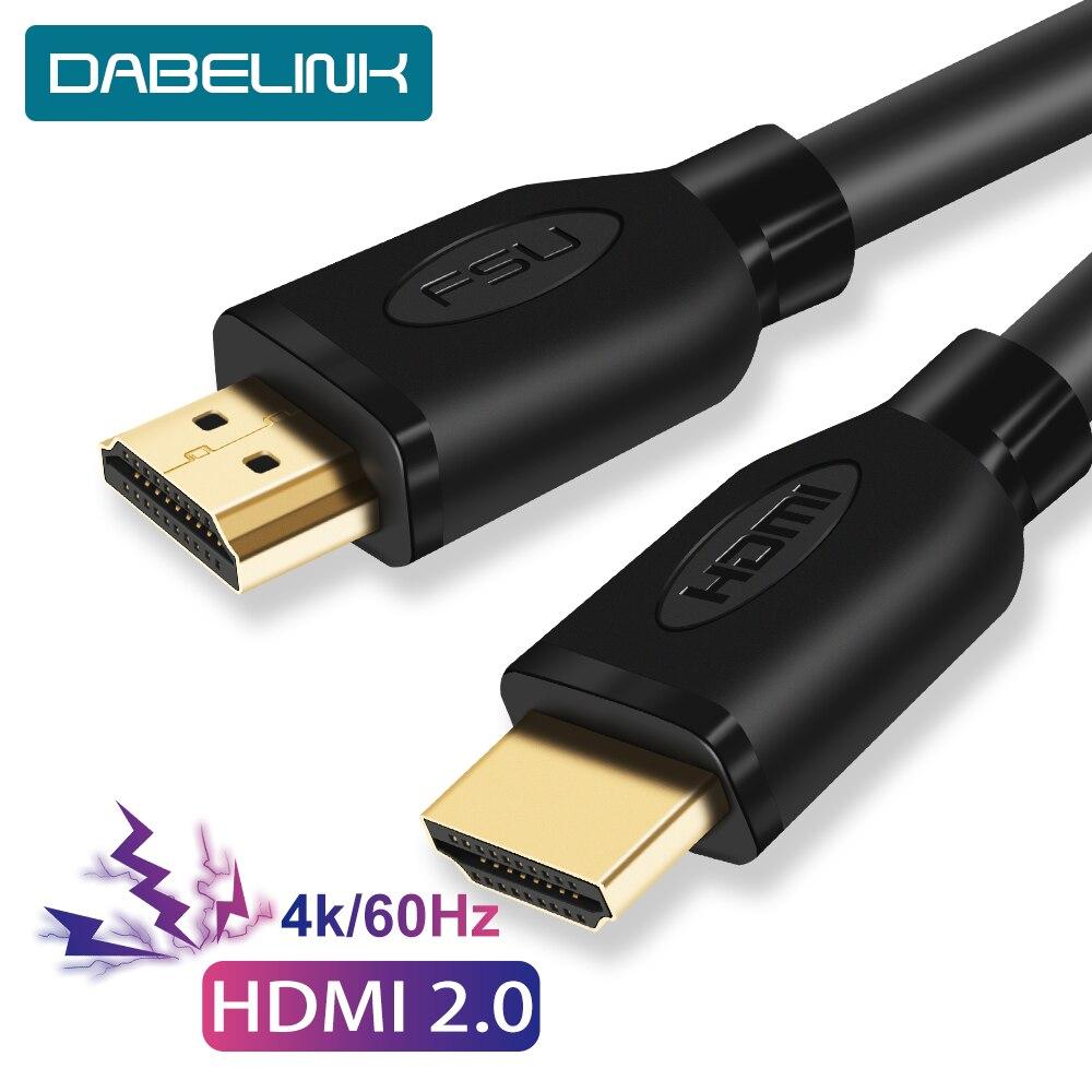 Cabo hdmi 2.0 4 k 60 hz, divisor de cabo hdmi, caixa de cabo hdmi 2.0 1.4 cabo de vídeo para projetor de ps3 4 hdtv, 5 10 20 m