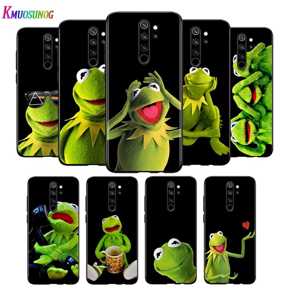 Para Xiaomi Redmi Nota 9 9 Max teléfono caso la rana de Xiaomi 8T 8 7 6 5 Pro 5A 4X 4 negro de la cubierta del teléfono