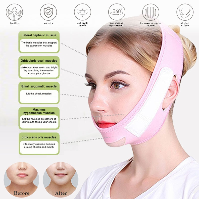 Retail New Arrival Face Slimming Strap Unisex Washable Double Chin Reducer V-shape Improve Wrinkles Skin Tightening Lifter