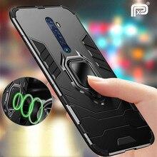 Porte-anneau magnétique étui pour Realme X2 Pro XT étui armure anneau de doigt couverture arrière pour OPPO Realme X2 X2pro coque de téléphone Coques
