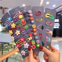 kawaii cartoon fruit flower princess hairpins gifts children girls kids hair clips pin barrettes accessories hairclip headdress