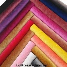 Glitter wishcome-Faux-vinyle pour nœuds, taille A4, 21x29cm, en cuir PU, velours, feuilles de cuir pour nœuds, GM118A