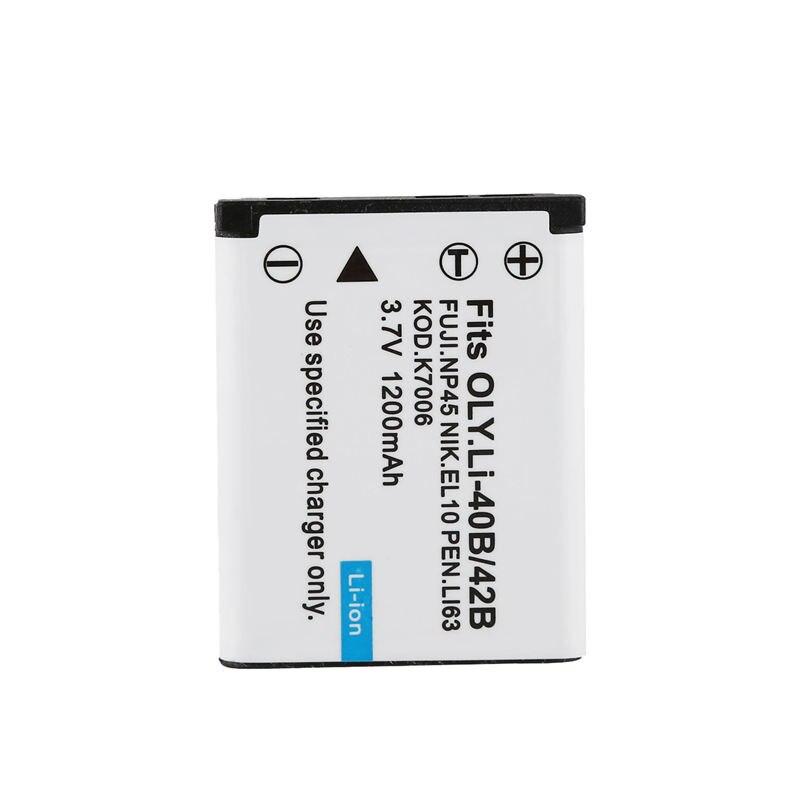 Batería de AMS-NP-45 NP-45A + cargador para Fujifilm FinePix XP70 XP60 XP50 T550 JX700 tipo 1 unidad, batería de NP-45