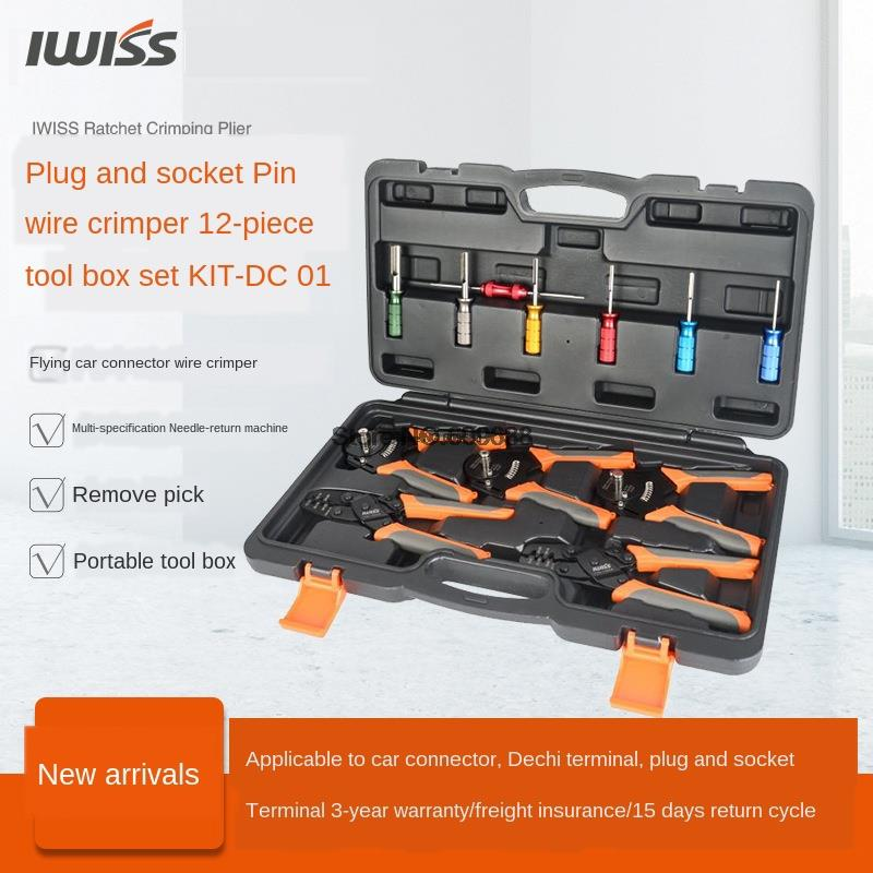 IWISS KIT-DC01 السيارات Rapair Mult أداة كيت العقص أدوات مجموعة أدوات إزالة ل الألمانية محطات الطقس حزمة محطات