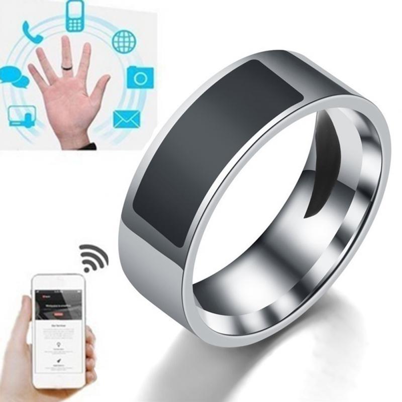 Acero inoxidable anillos inteligentes NFC digitales impermeables Control de acceso Chip inteligente dedo mágico anillo NFC para teléfono móvil