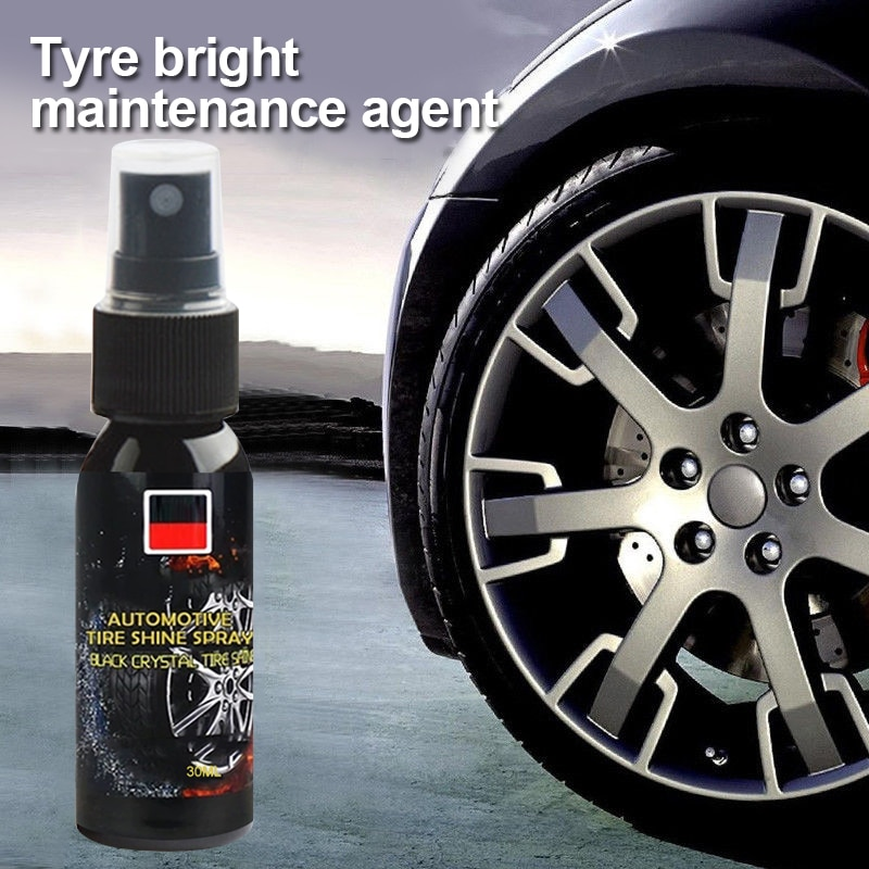 Tire Polish Cleaning Tool Car Tires Wash Renovation agent Auto Car Wheel Cleaner Tire Cleaning Agent 30ml Paint Care