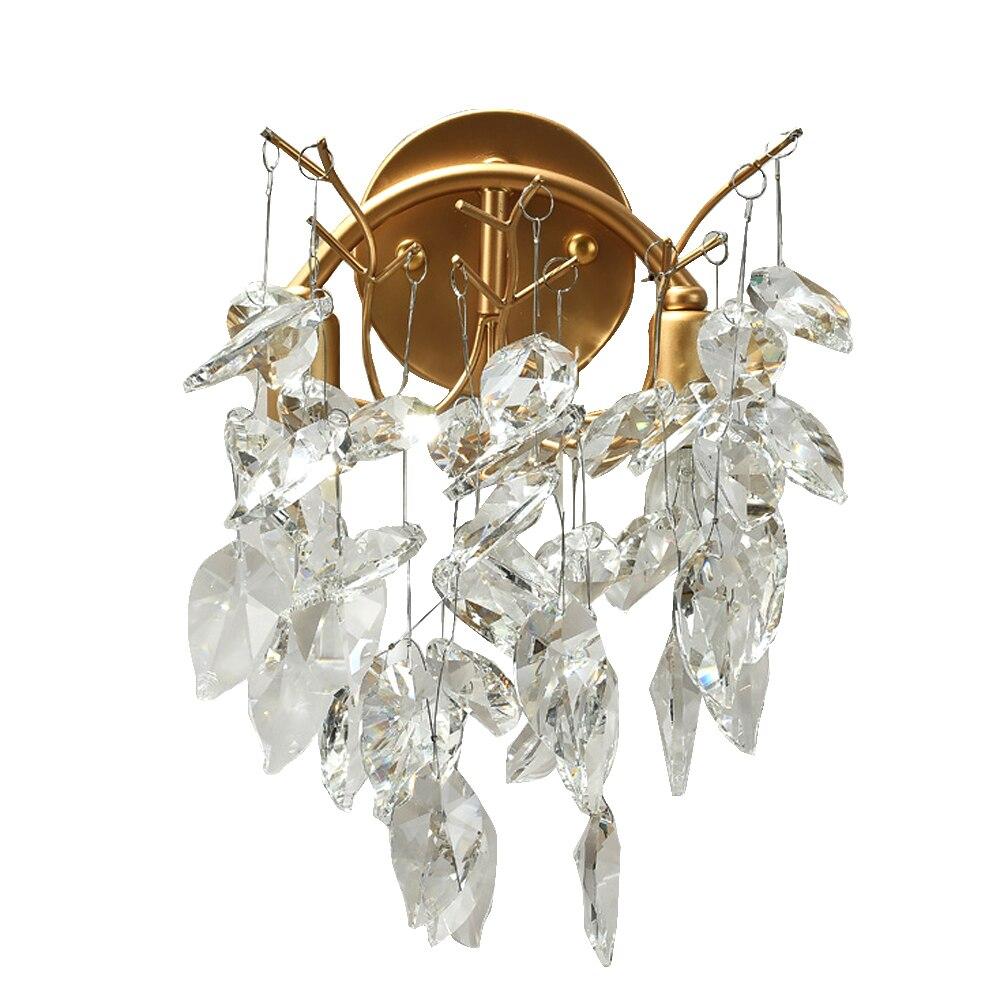Европейский стиль золотой кристалл настенные светильники Современный Бра блеск светодиодный освещение для гостиной спальни