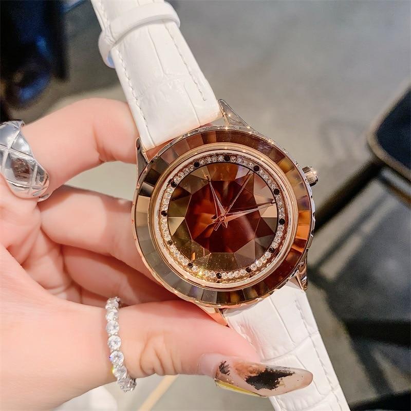 relojes para mujer Luxury Woman Watch 2019 Women's Leather Band Analog Quartz WristWatch Ladies Watch Women Dress Diamond Clock enlarge