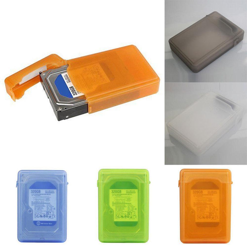 3.5 case case caso de armazenamento para sata ide hdd disco rígido unidade de proteção à prova de poeira caixa de armazenamento laranja verde ssd hdd gabinete casos