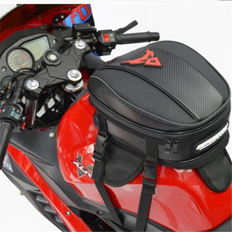مقاوم للماء دراجة نارية خزان النفط حقيبة مغناطيس قوي الامتزاز عالية السعة حقيبة دراجة نارية سباق الذيل الخلفي مقعد أكياس حزام تحديد