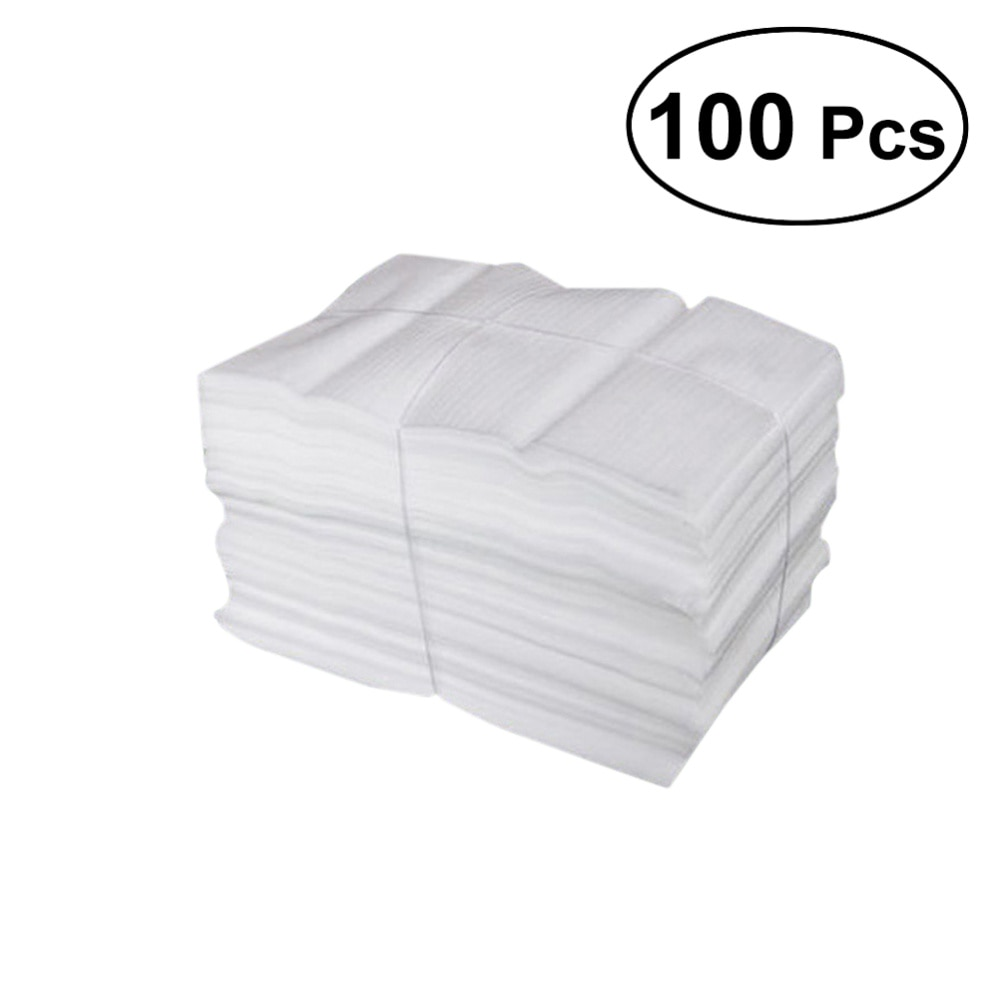 100 Uds envolturas de espuma EPE recubiertas de algodón perlado a prueba de golpes láminas de envoltura de espuma a prueba de golpes para el envío del embalaje-25X30CM