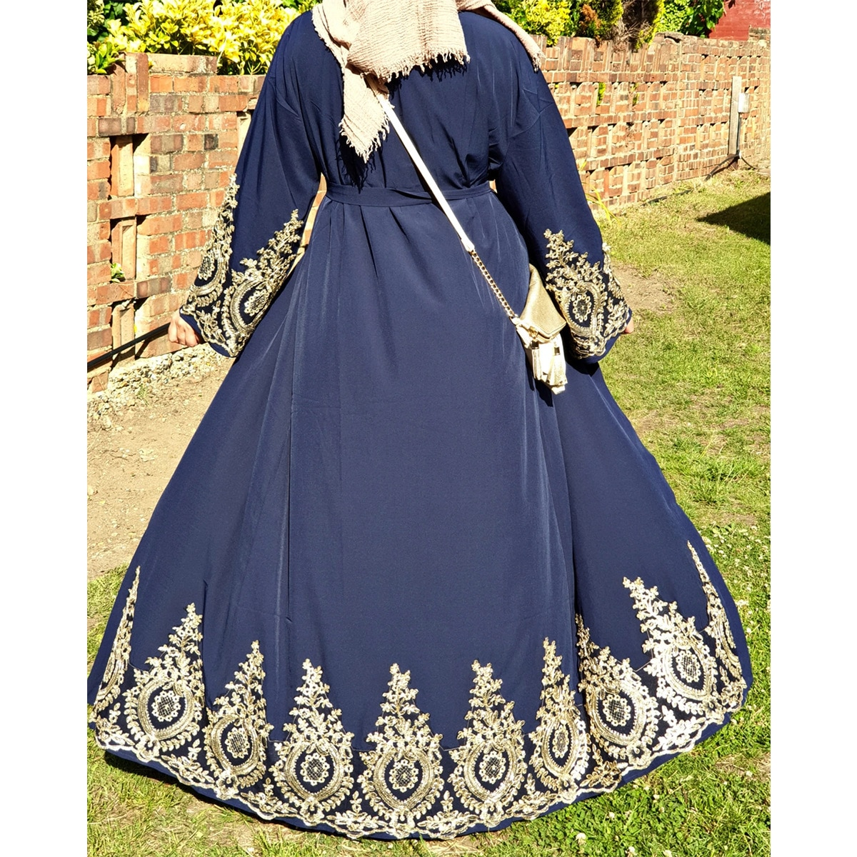 WEPBEL-فستان نسائي مسلم ، أكمام طويلة ، طباعة الأزهار ، كارديجان ، أزياء مفتوحة ، عباية دبي ، طول الكاحل