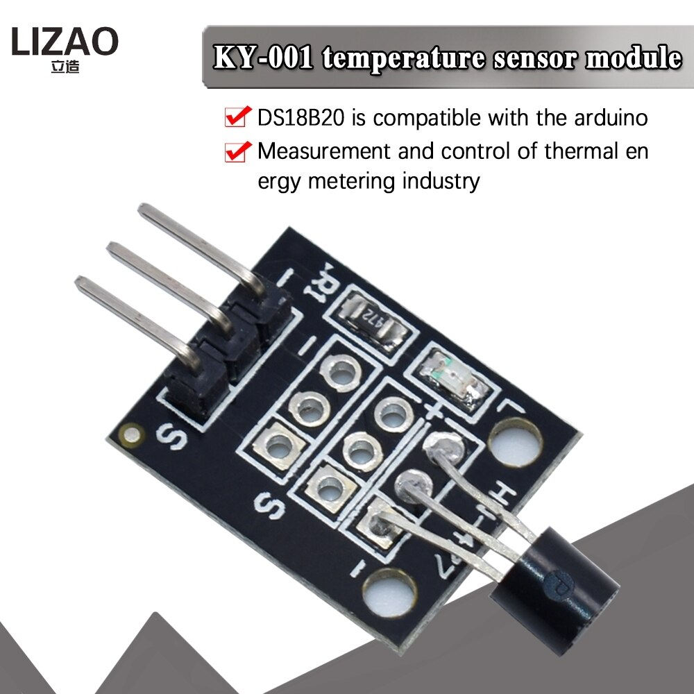 KY-001 3pin DS18B20 Temperature Measurement Sensor Module Diy Starter Kit KY001